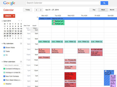 Productivity Consulting Calendar